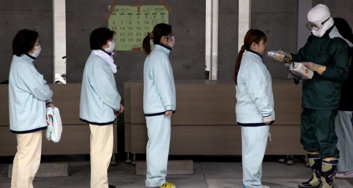 Chequeo de niveles de radiación en Fukushima