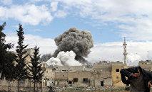 Una explosión en Alepo (Archivo)