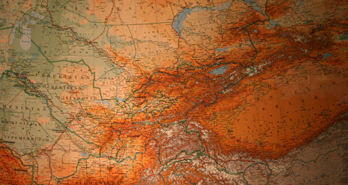 El mapa de Asia Central