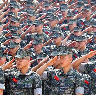 Los soldados de la Marina de Corea del Sur