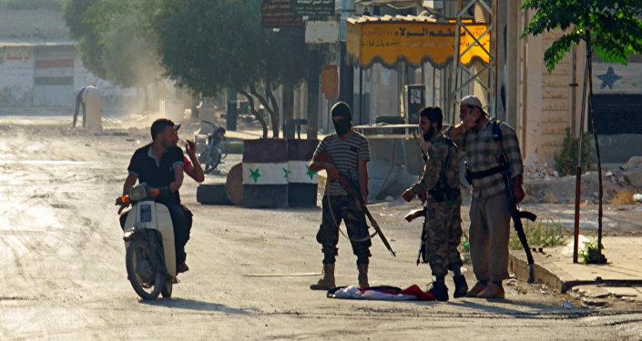 Terroristas de Jund al-Aqsa en Hama, Siria, 31 de agosto de 2016
