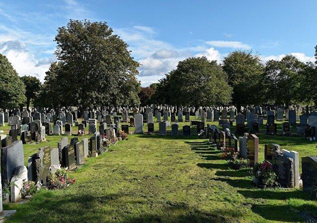 Un cementerio (archivo)