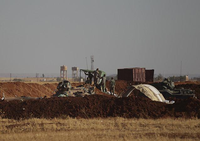 Los soldados turcos en Siria (archivo)