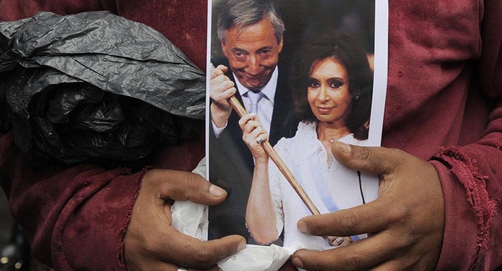 Néstor y Cristina Kirchner, expresidentes de Argentina (archivo)