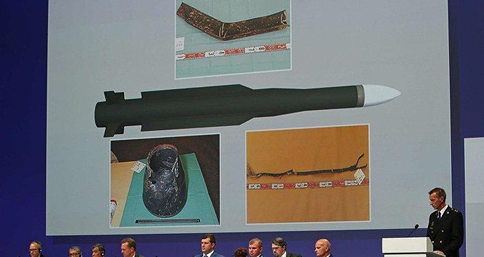 La presentación de los resultados de la investigación del siniestro del avión MH17 (archivo)