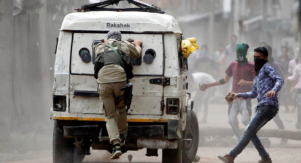 Protestas en la India (archivo)