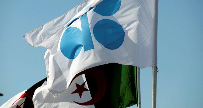 Las banderas de la OPEP y Argelia