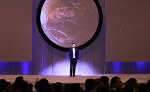 Elon Musk, fundador de la empresa espacial SpaceX, en el Congreso Internacional de Astronáutica en Guadalajara, México