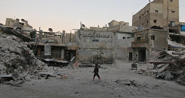 Zona cercana a Alepo, Siria