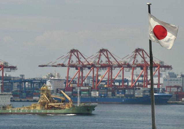 Un puerto japonés (ilustración)