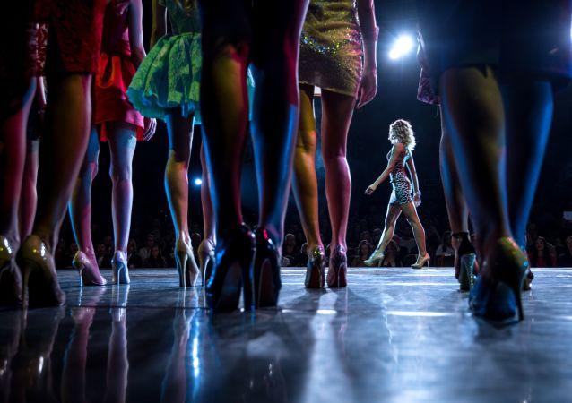 Participantes de un concurso de belleza (imagen referencial)