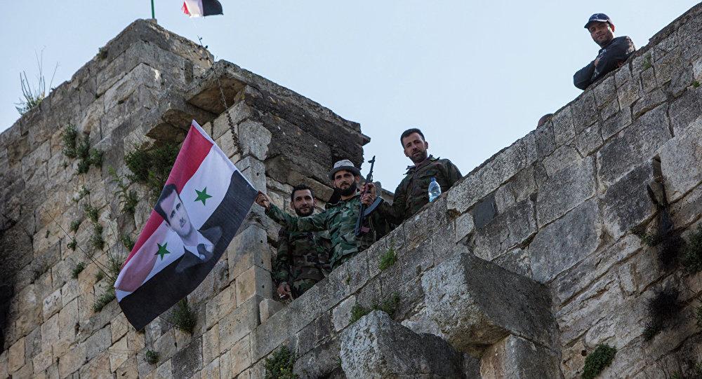 Освобожденная от боевиков крепость Крак де Шевалье в Сирии