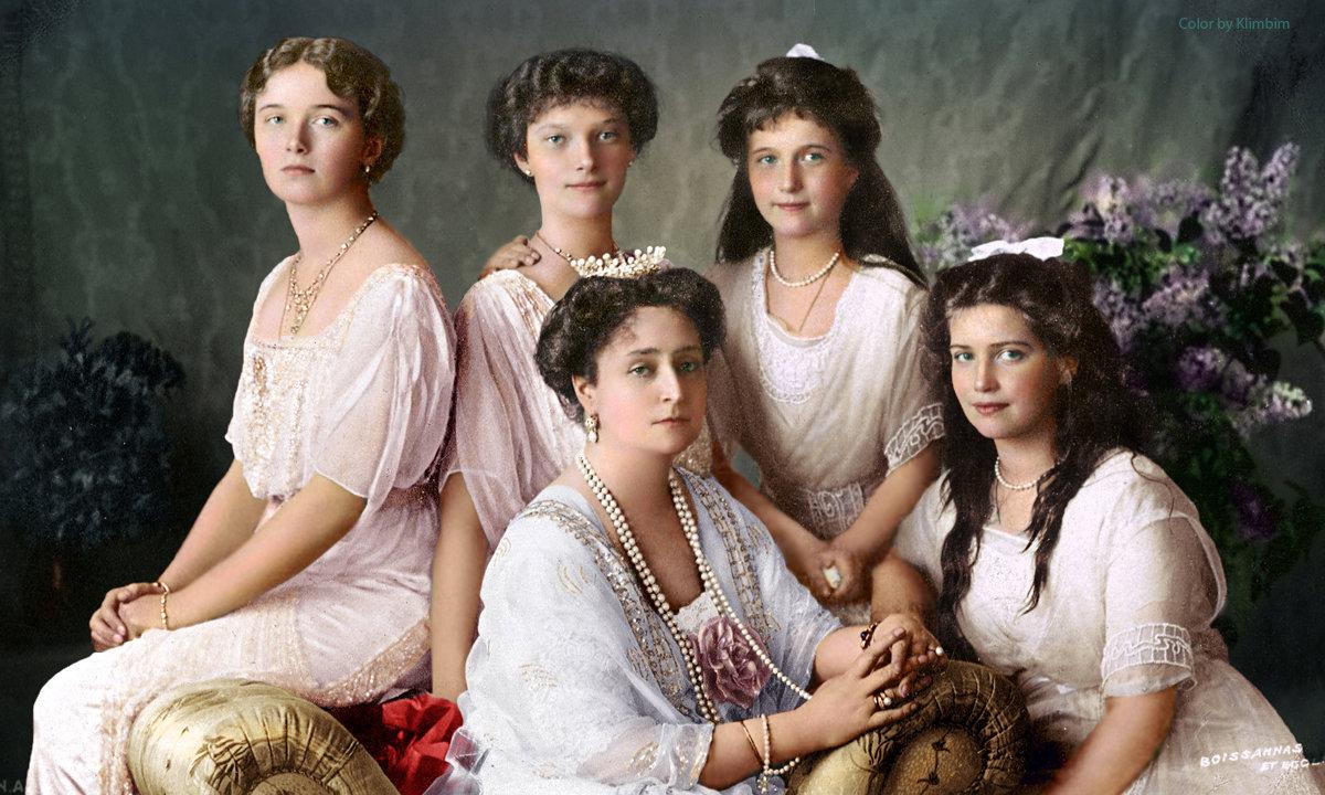 La familia del último emperador de Rusia, Nicolás II. Los Románov fueron ejecutados en julio de 1918 por los bolcheviques en la ciudad de Ekaterimburgo