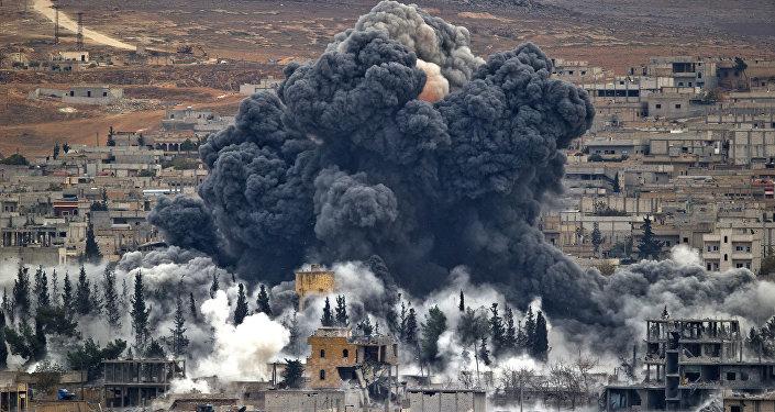 Ataque de la coalición liderada por EEUU en Siria