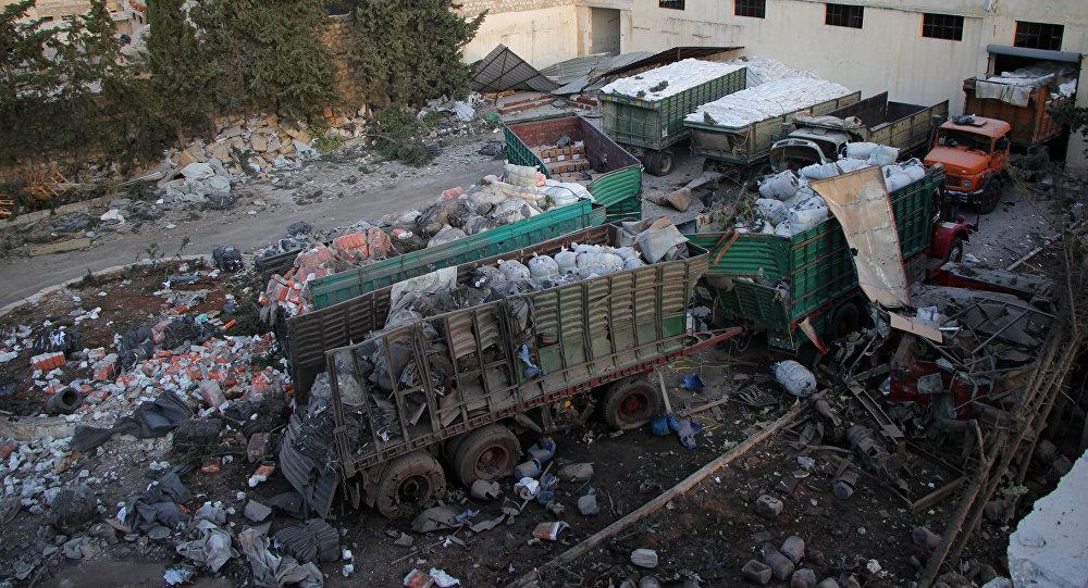 Resultado de imagen para Informe de la ONU sobre el atentado terrorista contra el convoy humanitario de Alepo