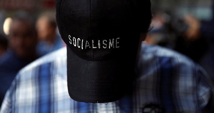 Un partidario del Partido Socialista de España (PSOE)