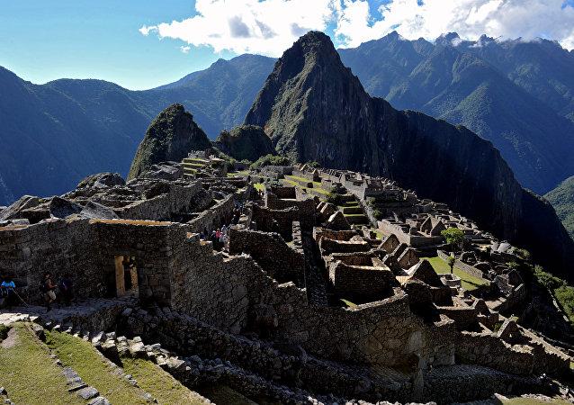 Ruinas de Machu Picchu (imagen de archivo)