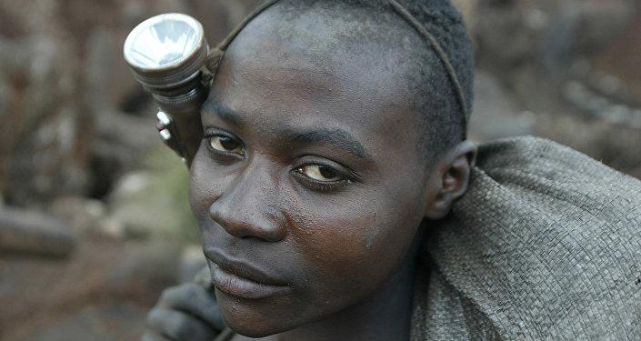 Obrero de mina de cobre, República Democrática del Congo
