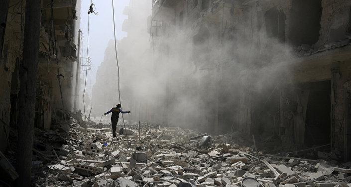 Destrucción en Alepo