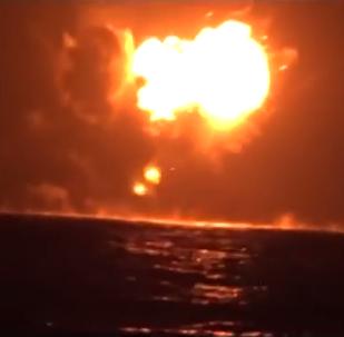 Presunta explosión del buque de guerra de EAU en Yemen