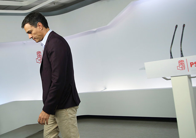 Pedro Sánchez, exlíder del PSOE