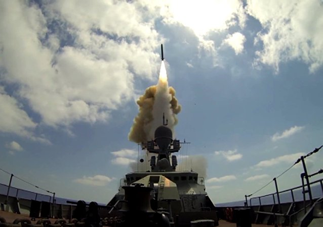 Lanzamiento de los misiles Kalibr (archivo)