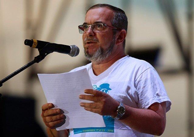 Rodrigo 'Timochenko' Londoño , líder del partido de izquierda FARC
