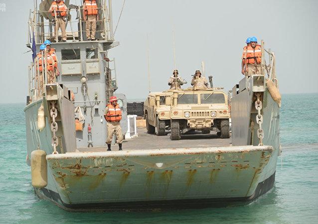 Ejercicios militares de la armada saudí (archivo)