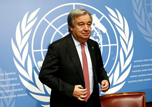 Secretario general de la ONU, Antonio Guterres (archivo)