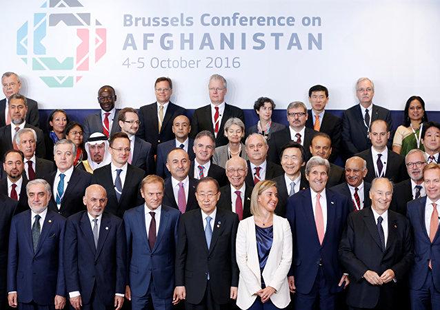 Los participantes de la Conferencia Internacional de Donantes para Afganistán en Bruselas