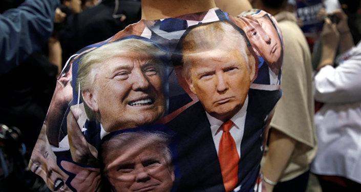 Un partidario de Donald Trump