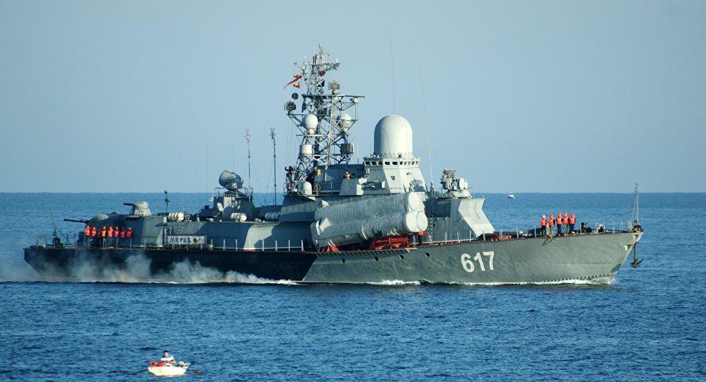 El barco lanzamisiles Mirazh