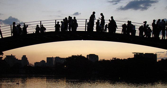 Atardecer en el parque Ibirapuera