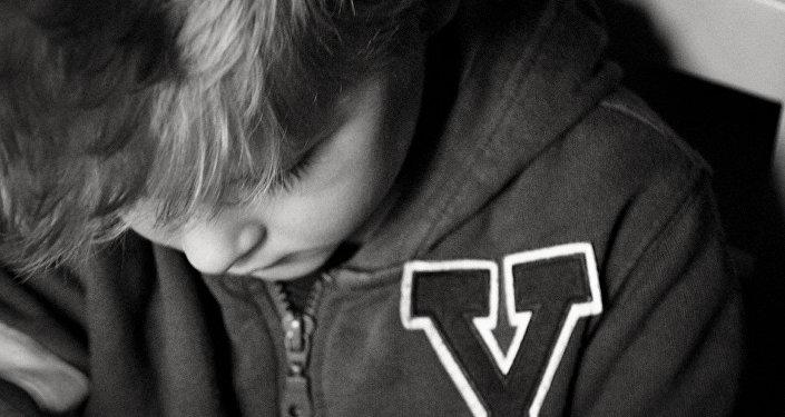 niño triste