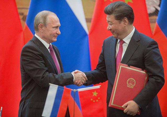 Los mandatarios de Rusia y China