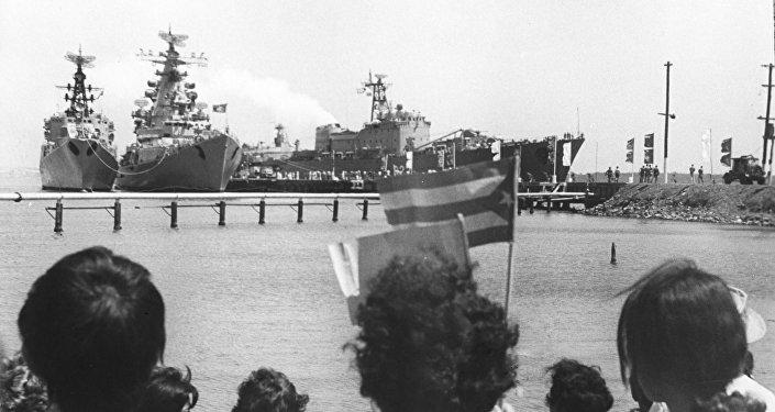 Buques soviéticos en Cienfuegos, 1970