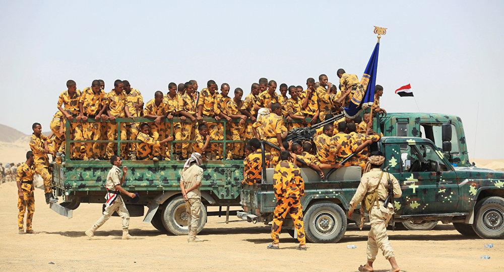 Los soldados del ejército de Yemen