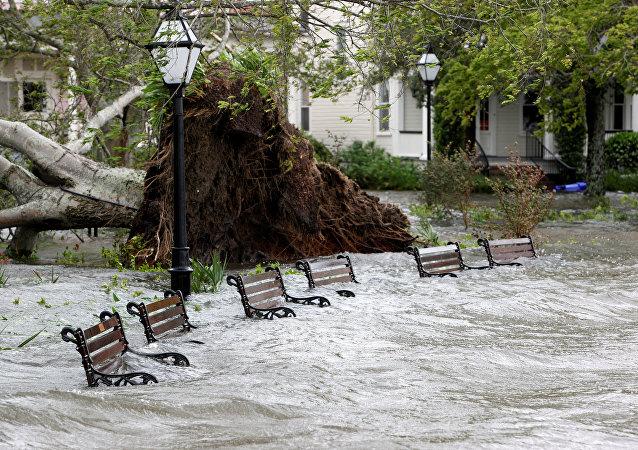 El huracán Matthew en EEUU