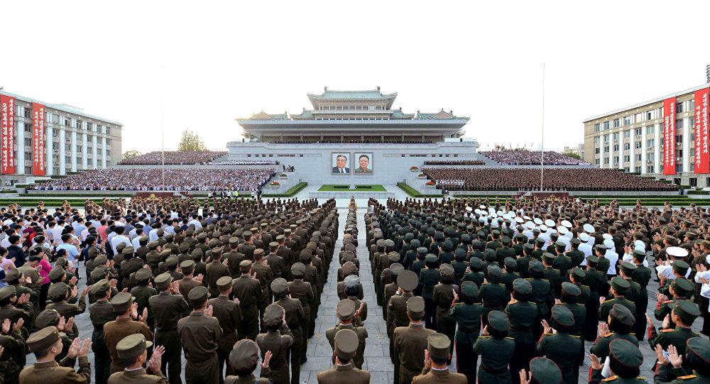 Corea del Norte celebrando el éxito de un ensayo nuclear (archivo)