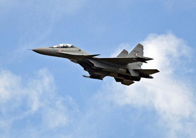 Un Su-30MKI indio, la plataforma para la versión aérea del misil BrahMos