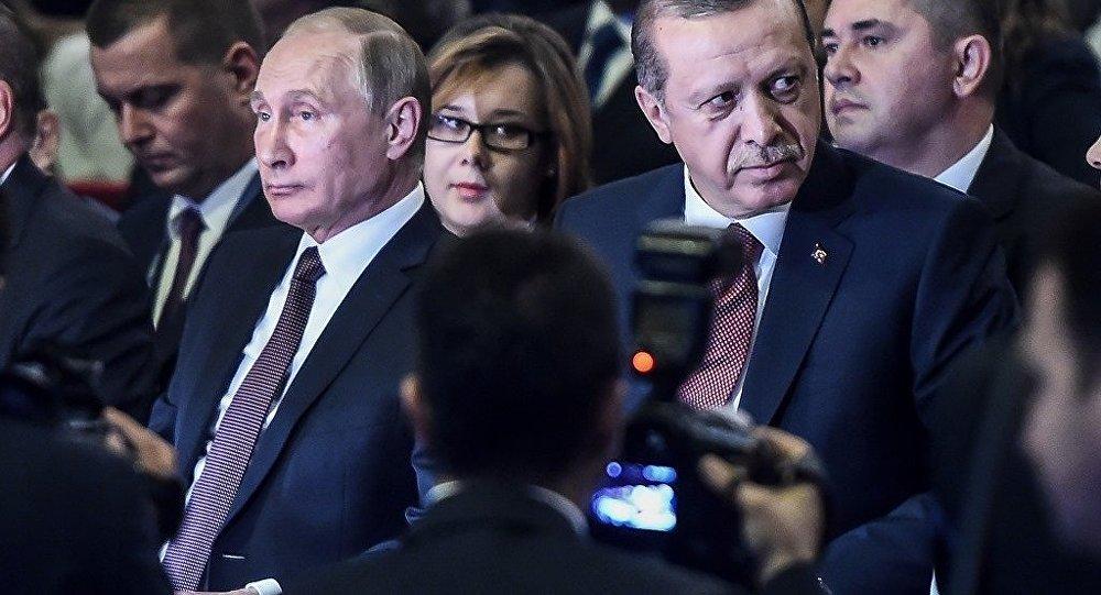 Presidente de Rusia, Vladímir Putin, y presidente de Turquía, Recep Tayyip Erdogan