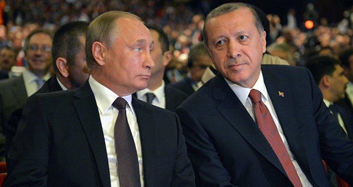 Vladímir Putin, presidente de Rusia, y Recep Tayyip Erdogan, presidente de Turquía