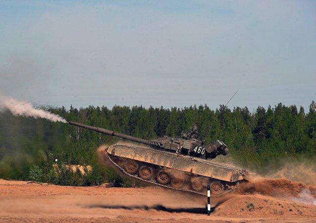 El tanque ruso T-80