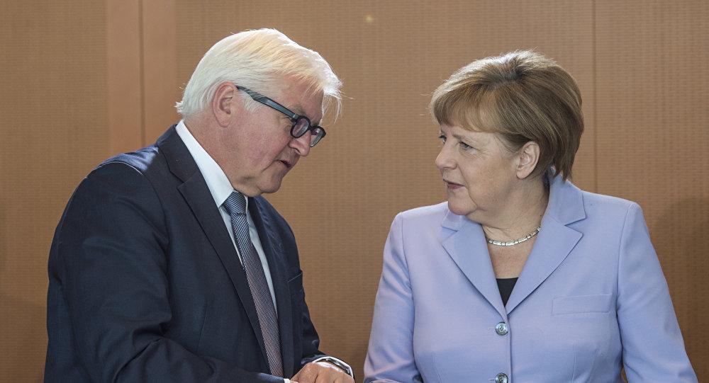 Angela Merkel y Frank-Walter Steinmeier