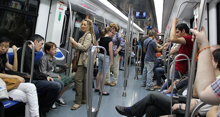 El metro de Barcelona, en la región de Cataluña (España)