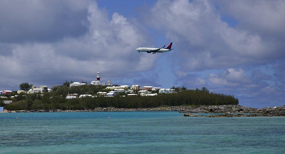 Un avión sobre las Bermudas