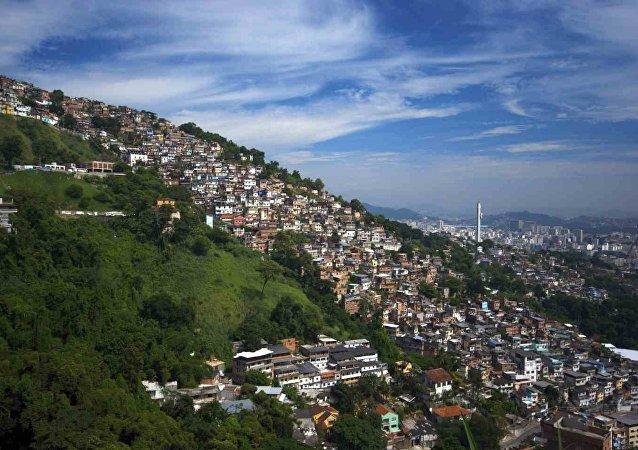 Una favela en Río de Janeiro