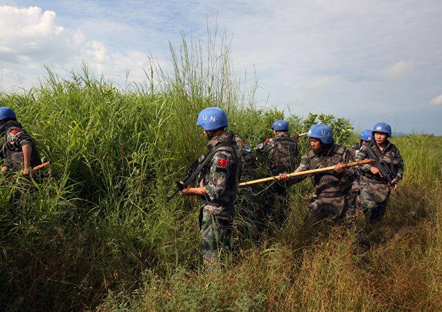 Soldados de la fuerza de paz chinos (Archivo)