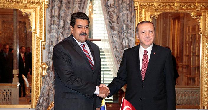 Presidente de Venezuela, Nicolás Maduro, y su homólogo turco, Recep Tayyip Erdogan