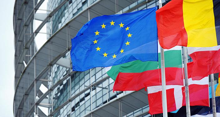 Bandera de la UE y de los países miembros